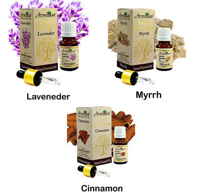 Arvedikas Natural Organic Essential Oils 10ml- Aroma Therapy / A Gift Set of 3pc