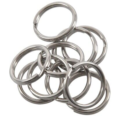 10x Stainless Silver Tone Key Rings Jewelry High Quality DIY Size:20mm Each Y7P6