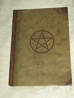 Magical Journal, Grimoire, Book of Shadows, Pentacle design to cover.  Wicca NEW