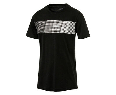 Puma Men's Speed Logo Tee - Black