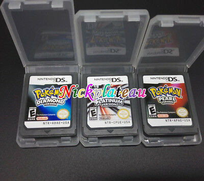 New Pokemon Platinum Pearl Diamond Version Game Card For Nintendo NDS DSI 3DS