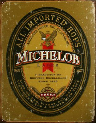 Michelob Lager Tin Sign , 13x16