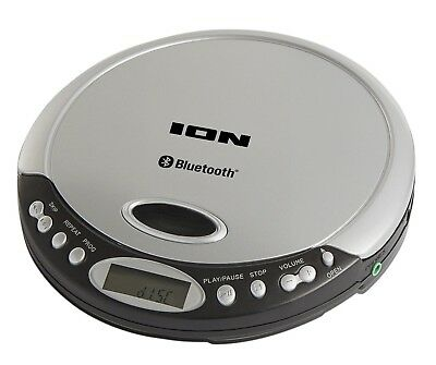 ION Audio Air CD Slimline Portable CD Player with Bluetooth Streaming, Headphone