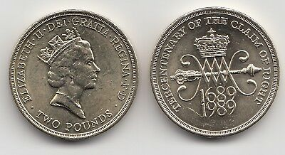 Rare 1989 Claim of Right £2 Pound Coin - Great Britain