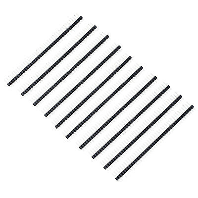 10 Pcs 1x40 Pin 2.54mm Pitch Straight Single Row PCB Pin Headers PK S8L4