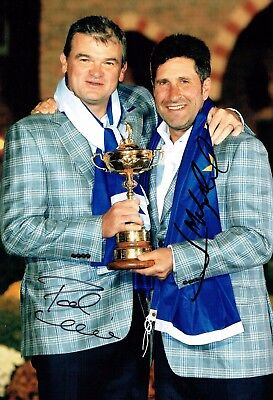 Paul LAWRIE & Jose Maria OLAZABAL SIGNED Autograph 12x8 Photo AFTAL COA