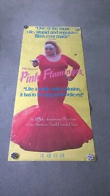 Pink Flamingos 25th anniversary original cinema poster Divine