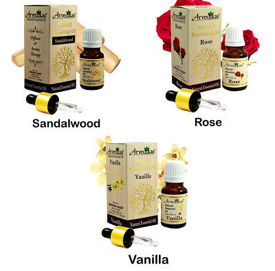 Arvedikas 100% Pure Natural Organic Essential Oils 10ml / A Gift Set of 3pc