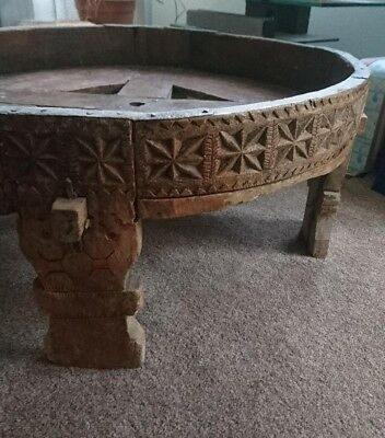 Antique table - round with charger