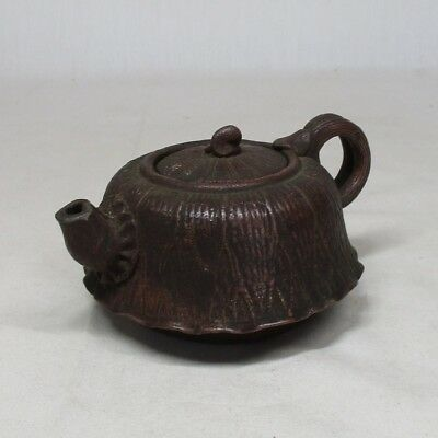 B274: Japanese old BIZEN pottery tea pot for SENCHA with good work