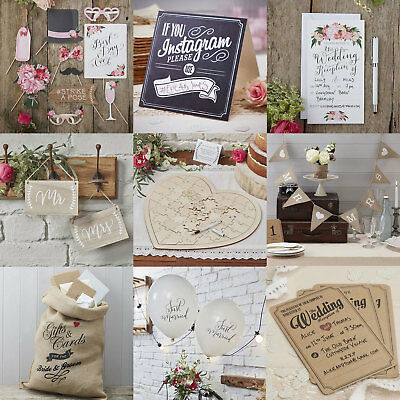 Rustic Country Boho Vintage Affair Wedding Decorations and Party Supplies