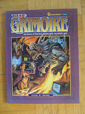 SHADOWRUN – THE GRIMOIRE 15th Edition 2053 - FASA 7903 – English - sheets unused
