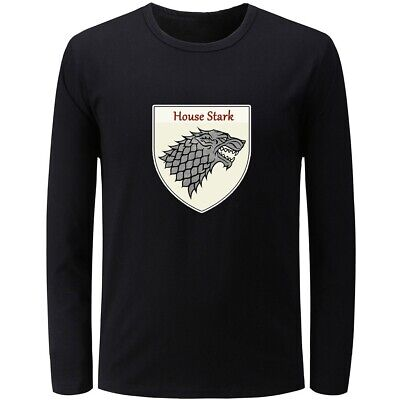 Game of Thrones House Stark of Winterfell Mens Boys Casual T-Shirts Graphic Tops