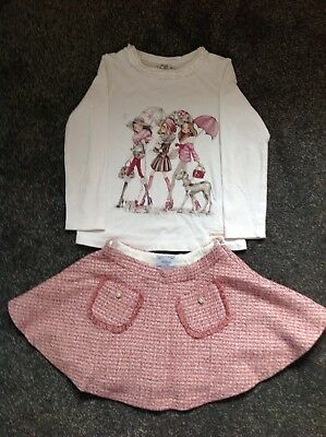 mayoral girls Age 4 Years Skirt An Top