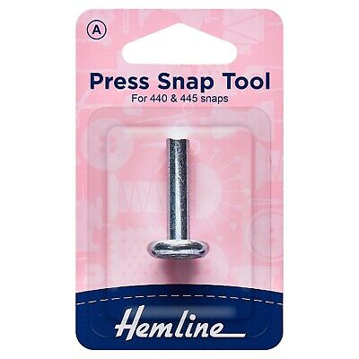 Hemline Metal Press Snap Tool For Fashion Snaps Marked A (440 445 440R 445R)