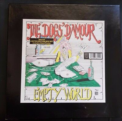 """Dogs D'Amour - Empty World 12"""" Box Set with Poster (never been hung)"""