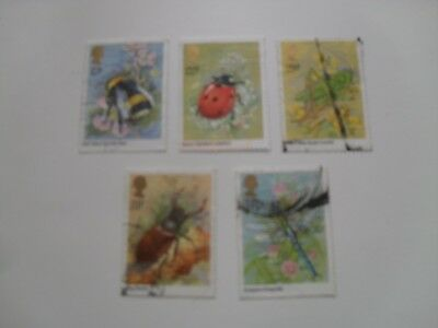 Gb Qe11 1985 Insects Used Set Commemorative Stamps Shown In Picture
