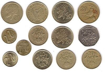 Mix Of Cyprus Coins***Collectors***