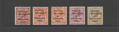 Ireland 1922 scott 15-18 complete set ALL with R over S variety Mounted mint
