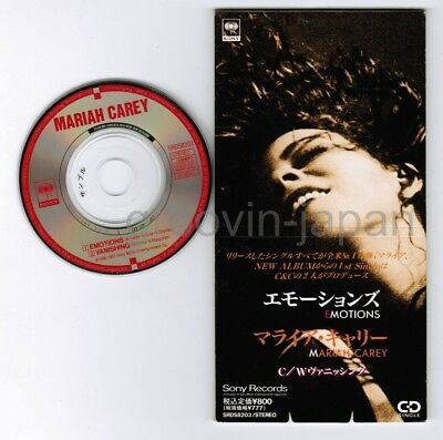 "Promo MARIAH CAREY Emotions c/w Vanishing JAPAN 3"" CD SINGLE SRDS8203 Free S&H"