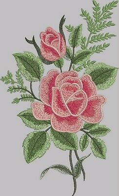 6 embroidery designs FLOWERS ROSES TULIPS HIBISCO ORNAMENTS