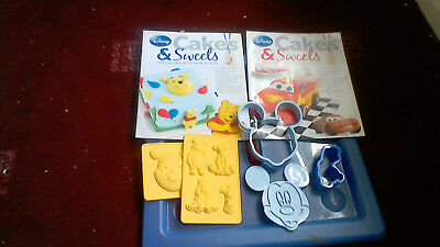 disney cakes and sweets mazine 2,3 cake moulds and cutters