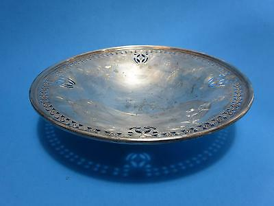 Vintage Sterling Silver Pierced Footed Bowl Henry Birks & Sons  Montreal
