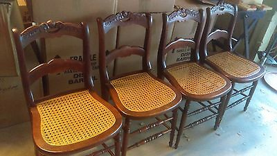 Antique Cane Seat Chairs (set of 4)