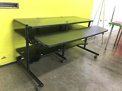 Anthro Film Edit Desk - Flexible desk for heavy equipment