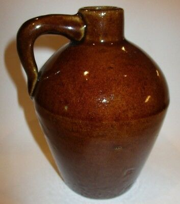 Vintage Antique The Roycroft Shops Brown Pottery Bottom Signed Small Jug