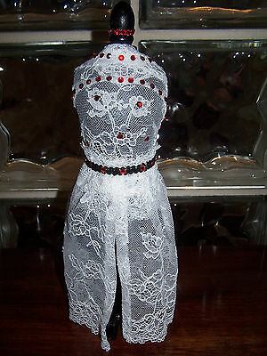 HANDMADE mannequin  PINCUSHION JEWELRY HOLDER BRIDAL GIFT