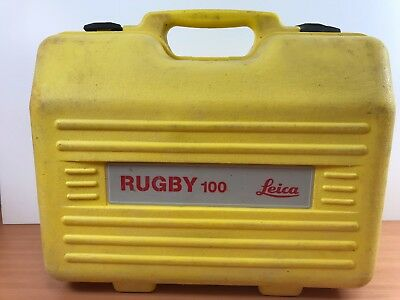 Used Leica Rugby 100 Rotating Laser Level Box / Case - Good Condition