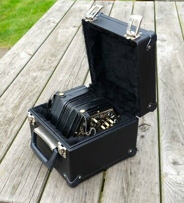Vintage Lachenal 32b C/G Metal-ended Anglo Concertina