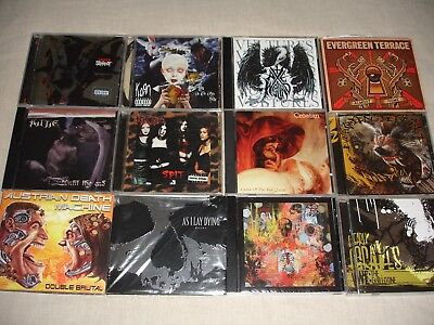 THRASH METAL CORE- Lot of 13 cds - Slipknot, Korn, Kittie, AxeWound, As I Lay D