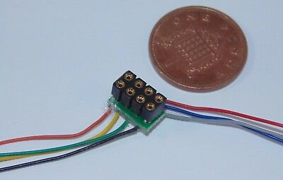 LaisDcc NEM652 8 Pin Fixed Wired Harness Part No.860001 DCC