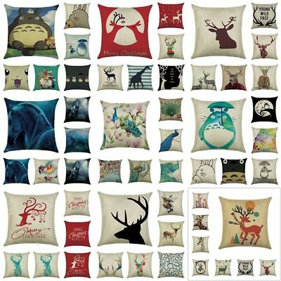 Vintage Animal Sofa Home Decor Throw Pillow Cases Car Backseat Cushion Cover Bed