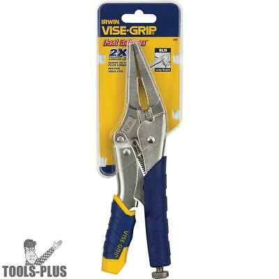 "Irwin Vise Grip 15T Vise Grip 9"" Long Needle Nose Locking Plier Fast Release New"