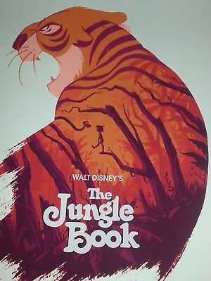 Olly Moss The Jungle Book Mondo movie poster Walt Disney Rare & Incredible