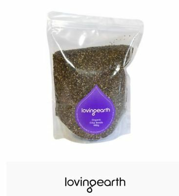 2 x 950g LOVING EARTH Organic Chia Seeds ( total 1.9kg )