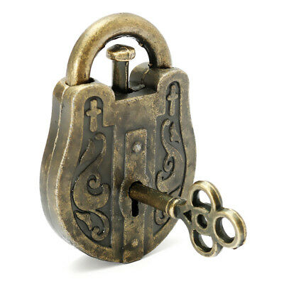 New Metal Cast God Lock Puzzle Retro Vintage Lock IQ&EQ Mind Brain Teaser Soup
