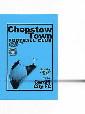 Chepstow Town v Cardiff City 03/4 Friendly