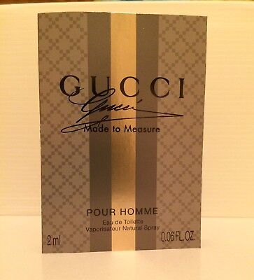 GUCCI Made To Measure Eau De Toilette EDT 2ml .06 fl.oz. SPRAY Sample Vial MAN
