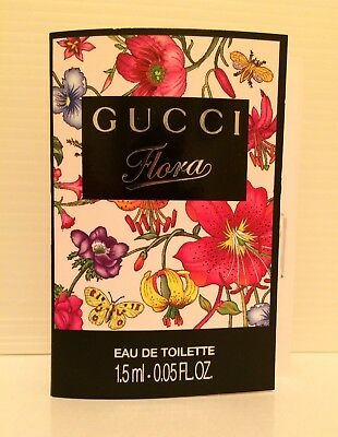GUCCI Gucci Flora Eau De Toilette EDT 1.5ml .05 fl.oz. Sample Vial Donna