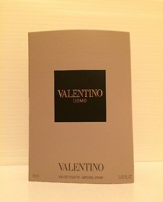 VALENTINO Uomo Eau De Toilette EDT 1.5ml .05 oz SPRAY Sample Vial MAN Uomo