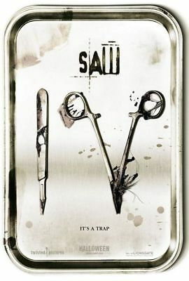 """SAW IV 2007 Advance Teaser Version A DS 2 Sided 27X40"""" Movie Poster Tobin Bell"""