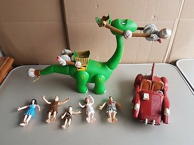 Flintstone movie dino figures joblot saber tooth 5000 toy car 1993