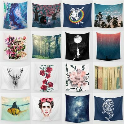 Tapestries Wall Hanging Poster Hippie Bedspread Beach Towel Indian Yoga Mat 242