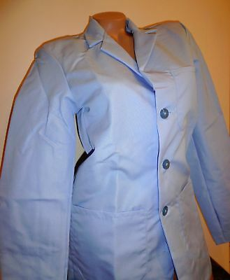 "Best Medical Woman L/S Staff Lab Coat 3 pockets Blue 30"" Length Size XS (32)"