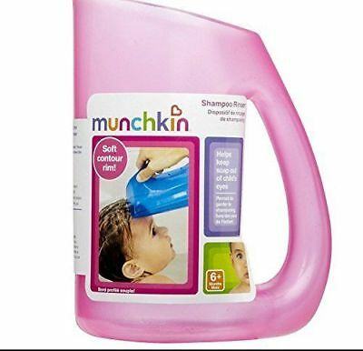 Munchkin Shampoo Rinser PINK Kids Baby Bath Clean Safe Children 6 MONTHS & OVER