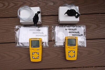 BW Technologies Gas Alert MicroClip XL Gas Detector, New, Calibrated, Warranty
